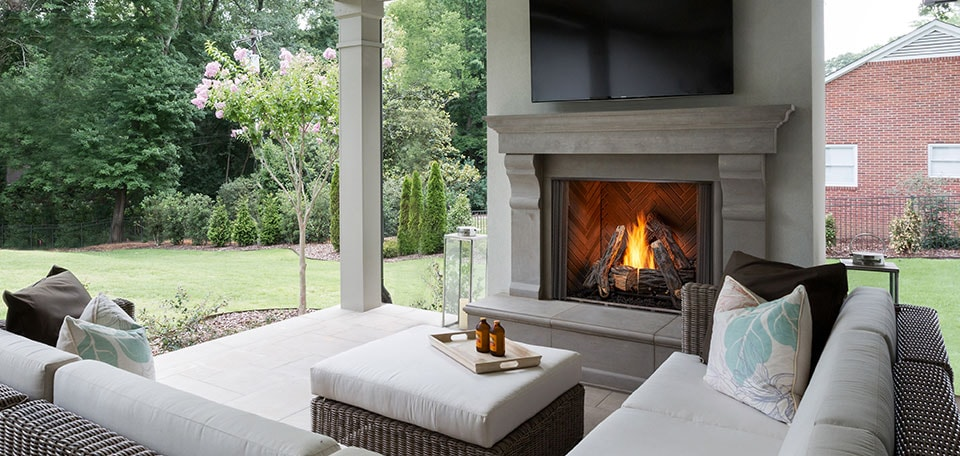 Courtyard Gas Fireplace